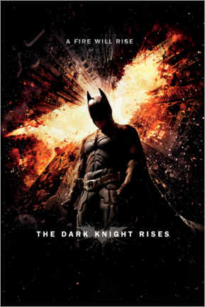Póster Premium  Batman - A fire will rise