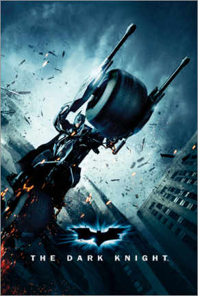 Póster Premium  Batman The Dark Knight Rises - Batpod