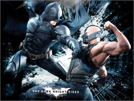 Póster Premium  The Dark Knight Rises 2012: Batman & Bane