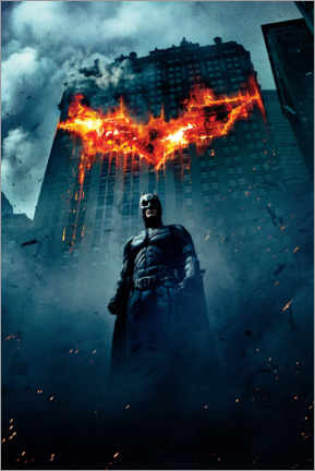 Póster Premium  The Dark Knight Rises - Burning Bat
