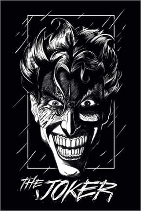 Póster Premium  The Joker - Smile