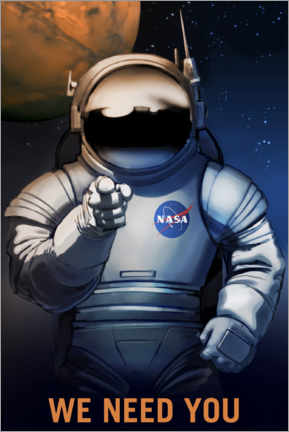 Póster Premium  Recrutamento do Mars Explorer - NASA