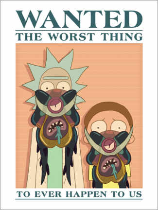 Póster Premium  Rick and Morty - The worst thing