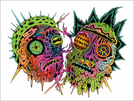 Póster Premium  Psychedelic zombies