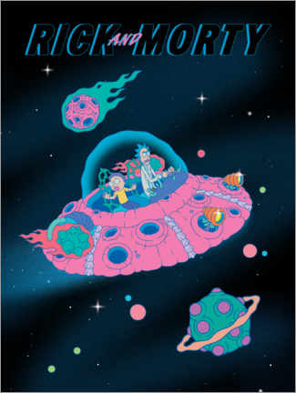 Póster Premium  Rick and Morty - Space Ship