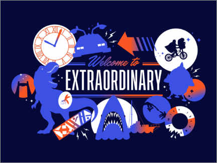Póster Premium  Welcome to the extraordinary
