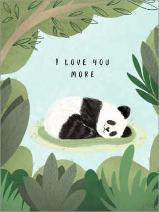 Póster Premium  I love you more - Nikita Jariwala