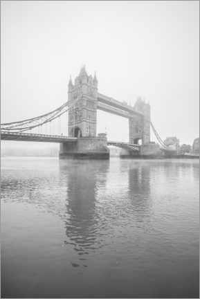 Póster Premium  Foggy London Tower Bridge - Matthew Williams-Ellis