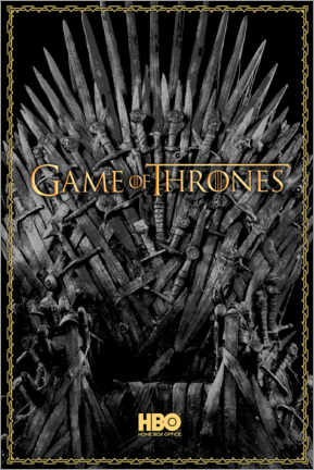Póster Premium  Game of Thrones - The Iron Throne - gold
