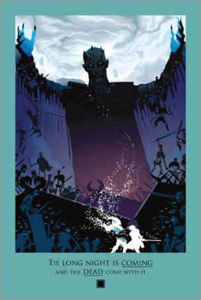 Póster Premium  Game of Thrones - Night and Death Quote