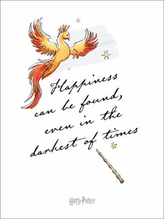 Póster Premium Happiness can be found - Harry Potter Quote