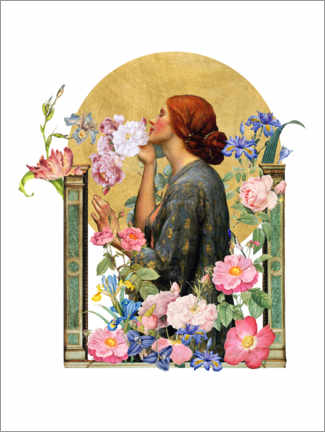 Póster Premium The Soul of the Rose - Collage
