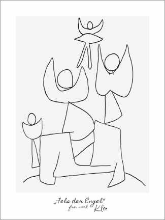 Póster Premium Rock of the Angels - based on Klee
