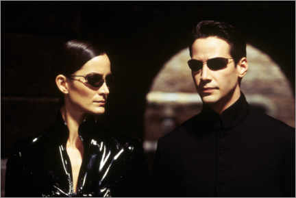 Póster Premium  The Matrix Reloaded - Neo and Trinity