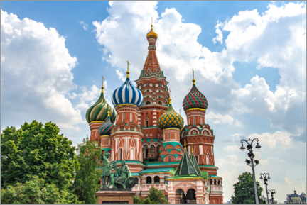 Póster Premium  St. Basil's Cathedral in Moscow III - HADYPHOTO