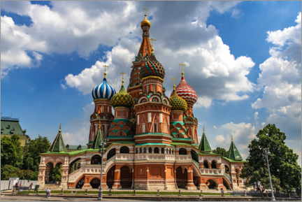 Póster Premium  St. Basil's Cathedral in Moscow II - HADYPHOTO