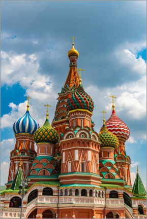Póster Premium  St. Basil's Cathedral in Moscow 1 - HADYPHOTO