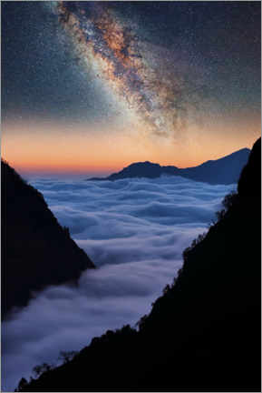 Póster Premium  The Himalayas in the evening - Manjik Pictures