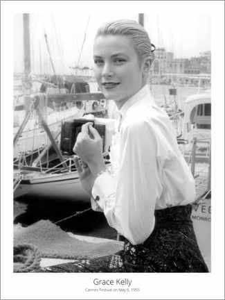 Póster Premium  Grace Kelly, Cannes Festival on May 6, 1955
