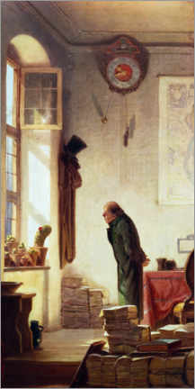Póster Premium  The Cactus Lover - Carl Spitzweg