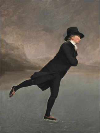 Quadro em acrílico  O Reverendo Robert Walker patinando no Duddingston Loch - Henry Raeburn
