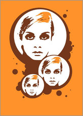 Autocolante decorativo  Twiggy Mathmos Orange - JASMIN!