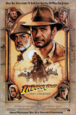 Quadro em PVC  Indiana Jones e a Grande Cruzada (inglês) - Entertainment Collection