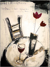 Autocolante decorativo  A glass of wine - Christin Lamade