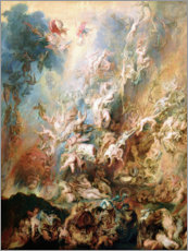 Póster Premium  The Fall of the Damned - Peter Paul Rubens