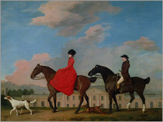 Quadro em plexi-alumínio  John and Sophia Musters riding at Colwick Hall - George Stubbs