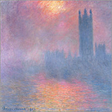 Autocolante decorativo  The Houses of Parliament - Claude Monet