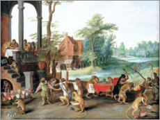 Autocolante decorativo  A Satire of the Folly of Tulip Mania - Jan Brueghel d.J.