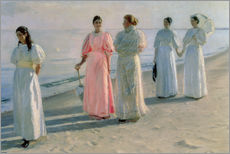 Autocolante decorativo  Ladies on the beach - Michael Peter Ancher