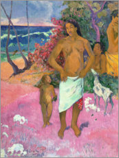Quadro em PVC  A Walk by the Sea - Paul Gauguin
