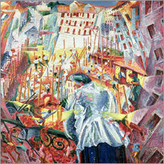 Autocolante decorativo  The Street Enters the House - Umberto Boccioni