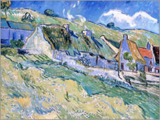 Autocolante decorativo  Thatched cottages at Auvers-sur-Oise - Vincent van Gogh