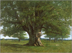 Autocolante decorativo  The Oak of Flagey - Gustave Courbet