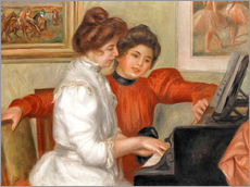 Quadro em plexi-alumínio  Yvonne and Christine Lerolle at the piano - Pierre-Auguste Renoir