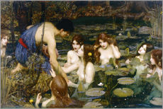 Autocolante decorativo  Hilas e as Ninfas - John William Waterhouse