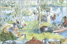 Autocolante decorativo  Opening of the crab fishing season - Carl Larsson