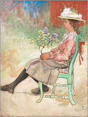 Autocolante decorativo  Dagmar Grill in the garden - Carl Larsson