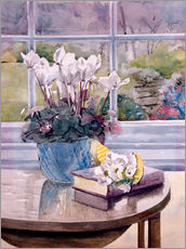Autocolante decorativo  Flowers and book on table - Julia Rowntree