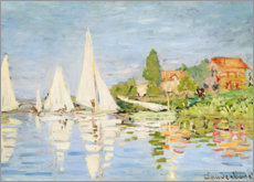 Póster Premium  Regatta boats in Argenteuil - Claude Monet
