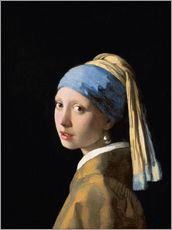 Autocolante decorativo  Girl with a Pearl Earring - Rapariga com Brinco de Pérola - Jan Vermeer