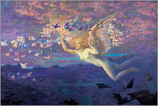 Autocolante decorativo  Wings of the Morning - Edward Robert Hughes