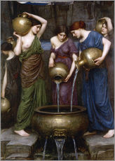 Autocolante decorativo  As Danaides - John William Waterhouse