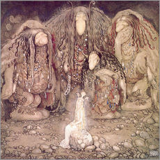 Autocolante decorativo  The Princess and the Trolls - John Bauer