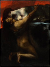Autocolante decorativo  The Kiss of the Sphinx - Franz von Stuck
