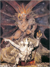 Autocolante decorativo  O número da besta é 666 - William Blake