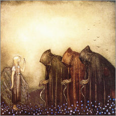 Autocolante decorativo  The story of Skutt the Moose and little Princess Tuvstarr - John Bauer